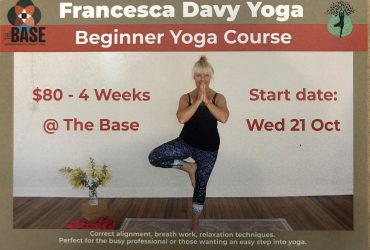 Beginner's Yoga with Fran Davy – Wednesdays at The Base